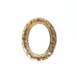 Oval baroque frames (2 pcs) 楕円形のバロック様式のフレーム(2個)