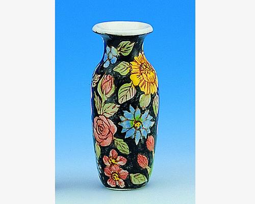 Large vase, floral design 花瓶、花柄(大)