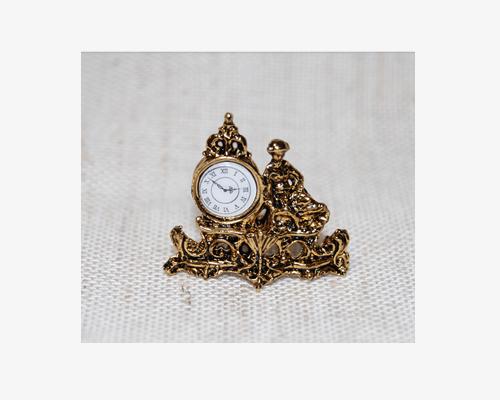 Mantle clock with figure 数字盤付きマントルクロック 置き時計・ゴールド