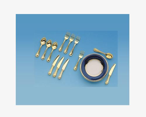 Small cutlery set, 4 persons 食卓用カトラリーセット・4人分 ゴールド
