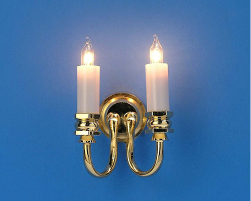 Double candle sconce  MiniLux 2アーム壁燭台