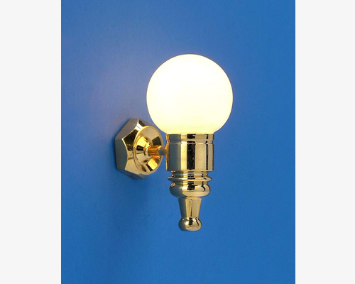 Sconce with globe  MiniLux  Sconce with globe  MiniLux ガラス玉ウォールライト(金)