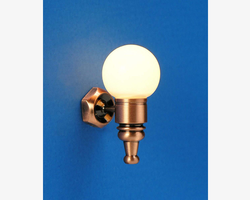 Sconce with globe  MiniLux  Sconce with globe  MiniLux ガラス玉ウォールライト(銅)