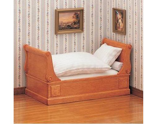 Biedermeier scroll-end-bed ビーダーマイヤー様式の巻き形ベッド