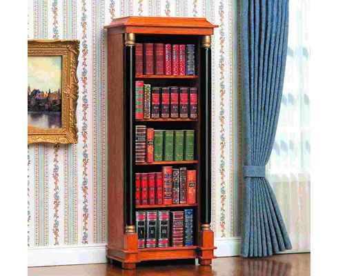 Biedermeier open bookcase ビーダーマイヤー様式の書架