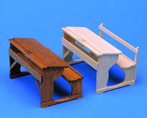 School benches (2) 学校ベンチ2脚セット