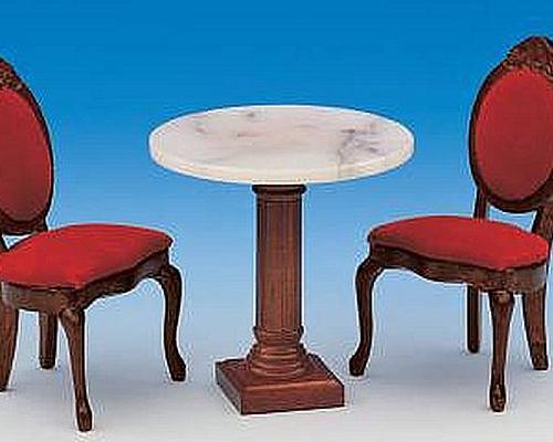 Caf・table  round  marple top 大理石のカフェテーブル