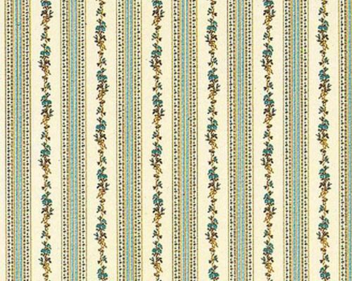 Wallpaper Biedermeier, blue 壁紙 ビダマイヤー様式・ブルー