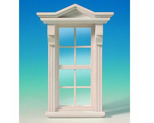 Victorian window, white ビクトリア式の窓・白