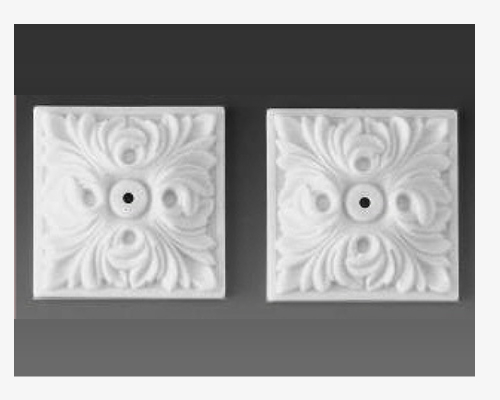 Ceiling carvings, square ソケット、正方形(2個)