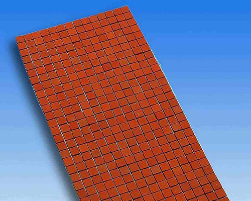 Clay tiles  mesh-mounted クレイ・レンガ