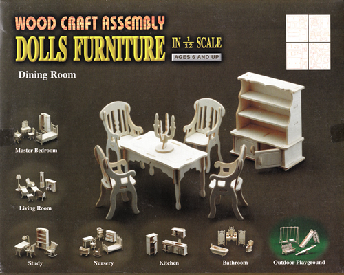 Wood Craft Assembly かんたんキット ダイニングルーム
