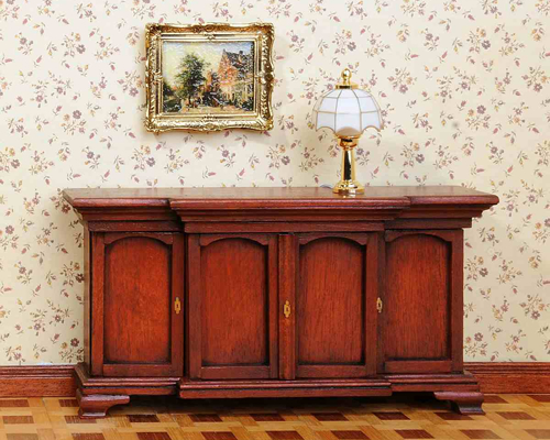 Chippendale sideboard with 4 doors チペンデール食器棚