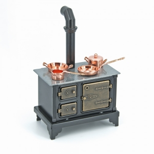 Nostalgic coal stove made of metal ノスタルジックな石炭ストーブ