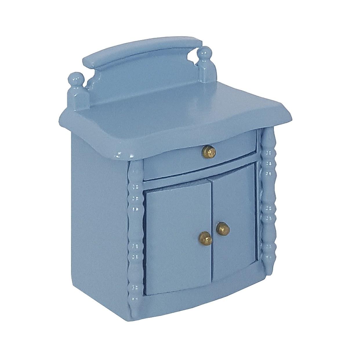 Bedside cabinet, blue 完成品・ベッドサイドテーブル、ブルー