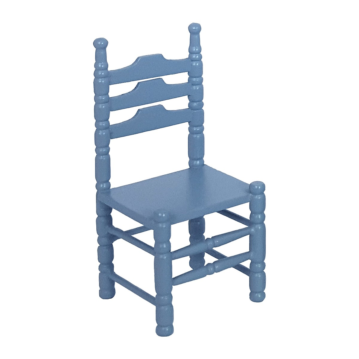 Chairs, blue, 2 pcs. 完成品・チェア2脚セット ブルー