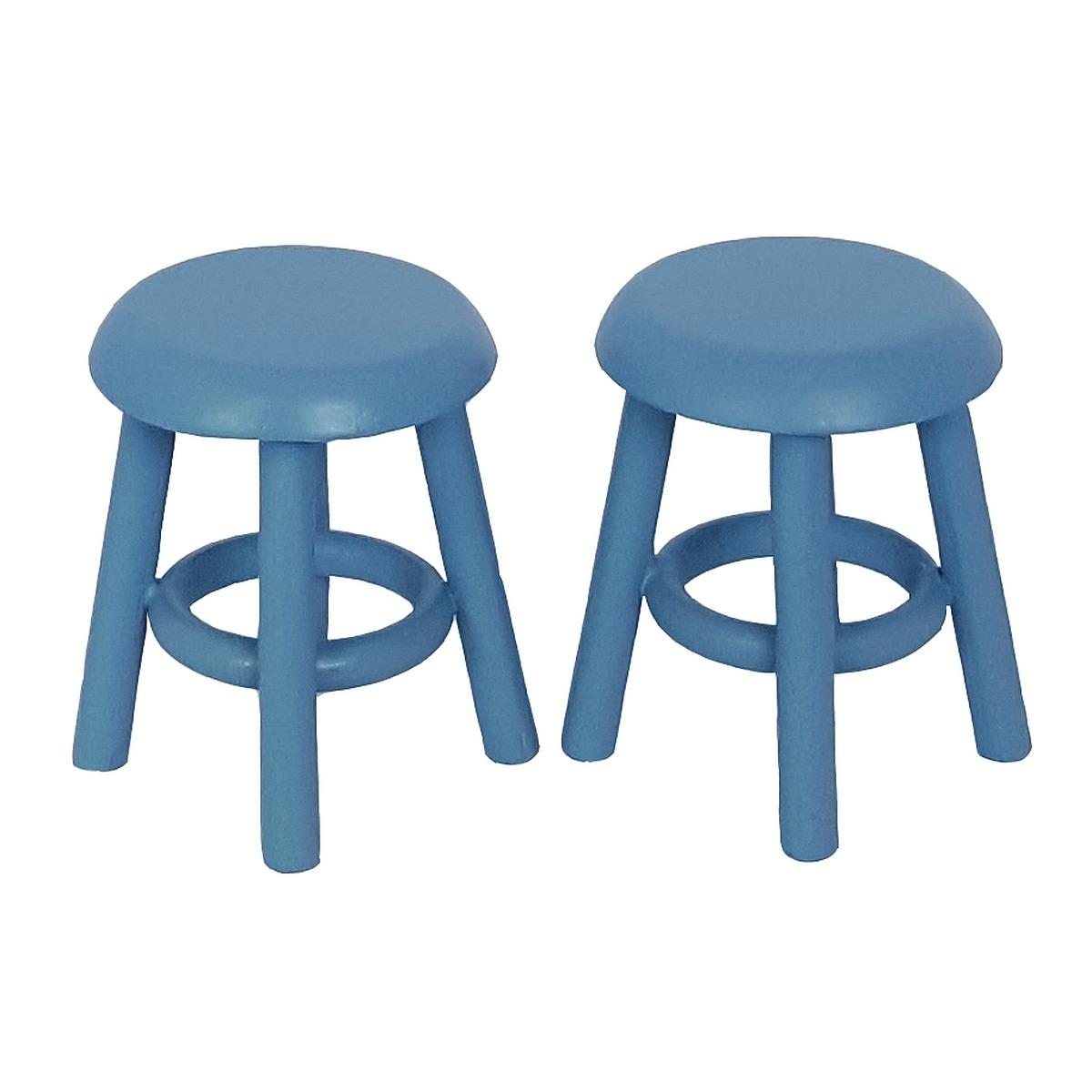 Stool, blue, 2 pcs. 完成品・スツール2脚セット ブルー