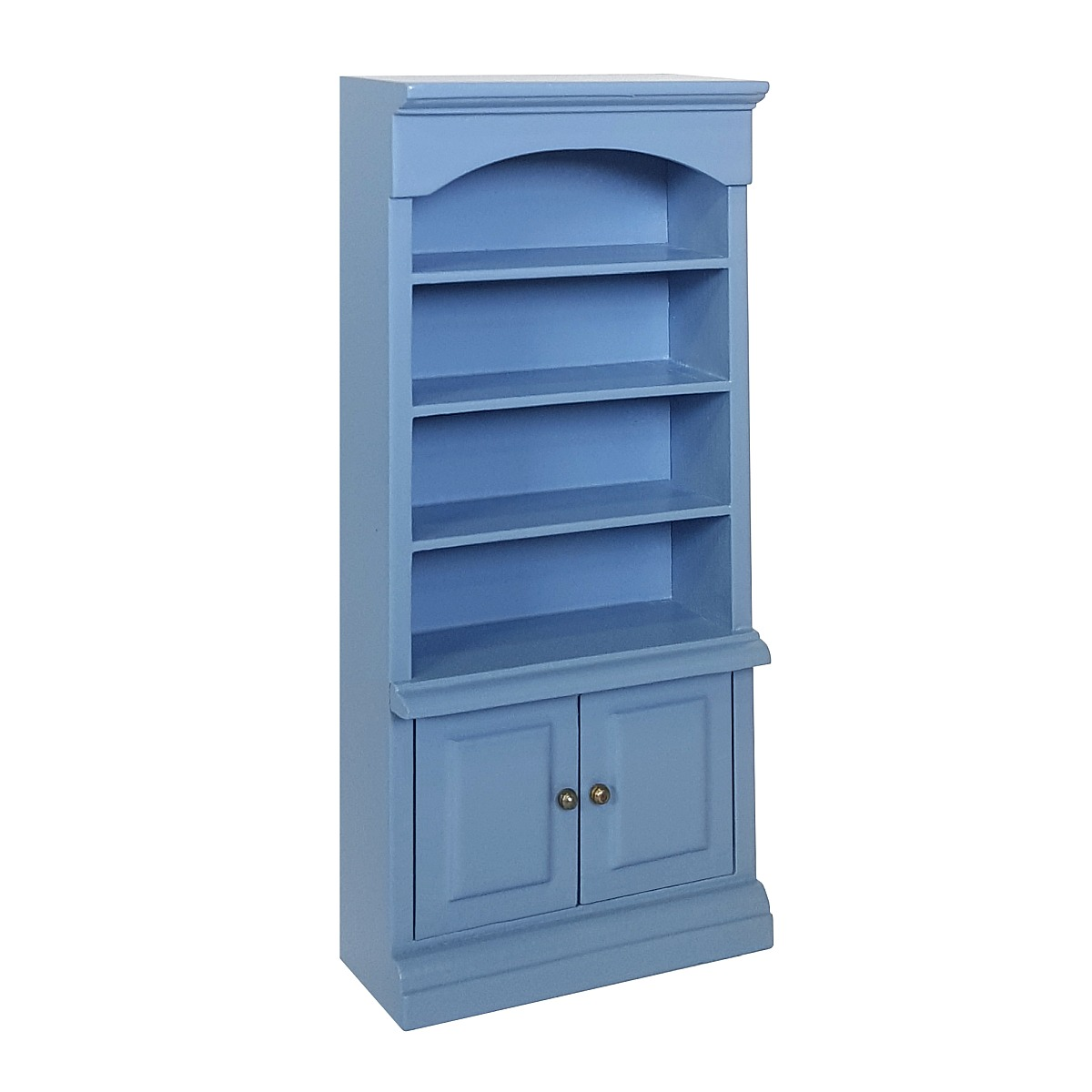 Open cupboard with underdoors, blau 完成品・ドア付きオープン食器棚、ブルー